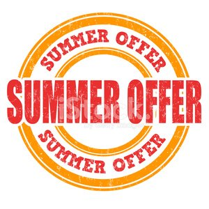 Summer offer stamp Clipart Image.