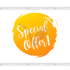 Special offer. Discount banner. Summer style.