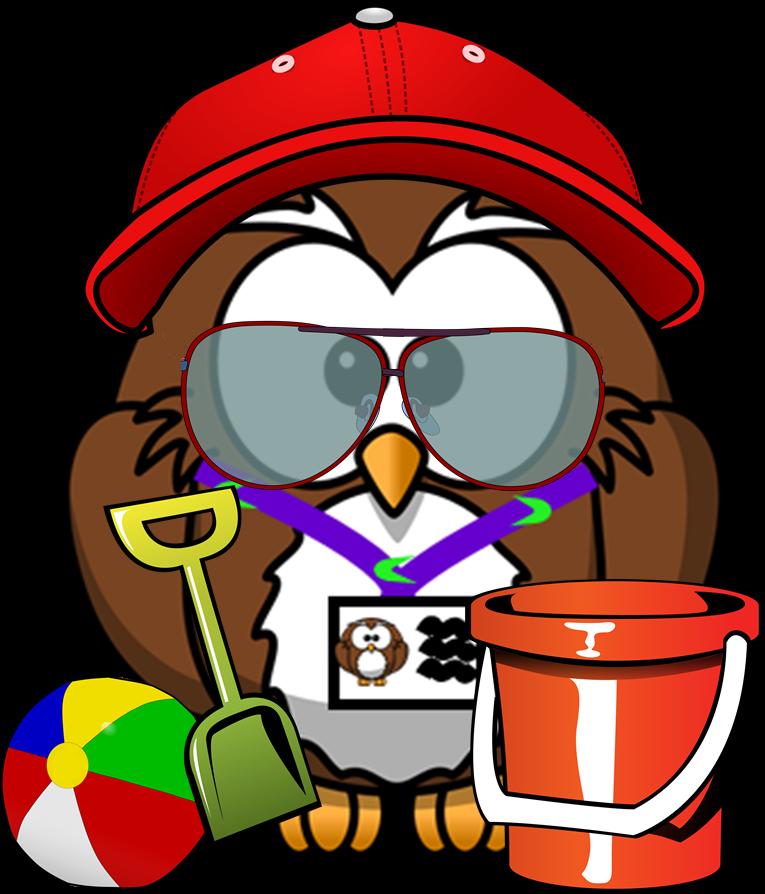 Summer Owl Clip Art.
