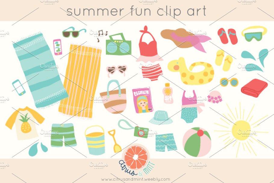 summer party clip art.
