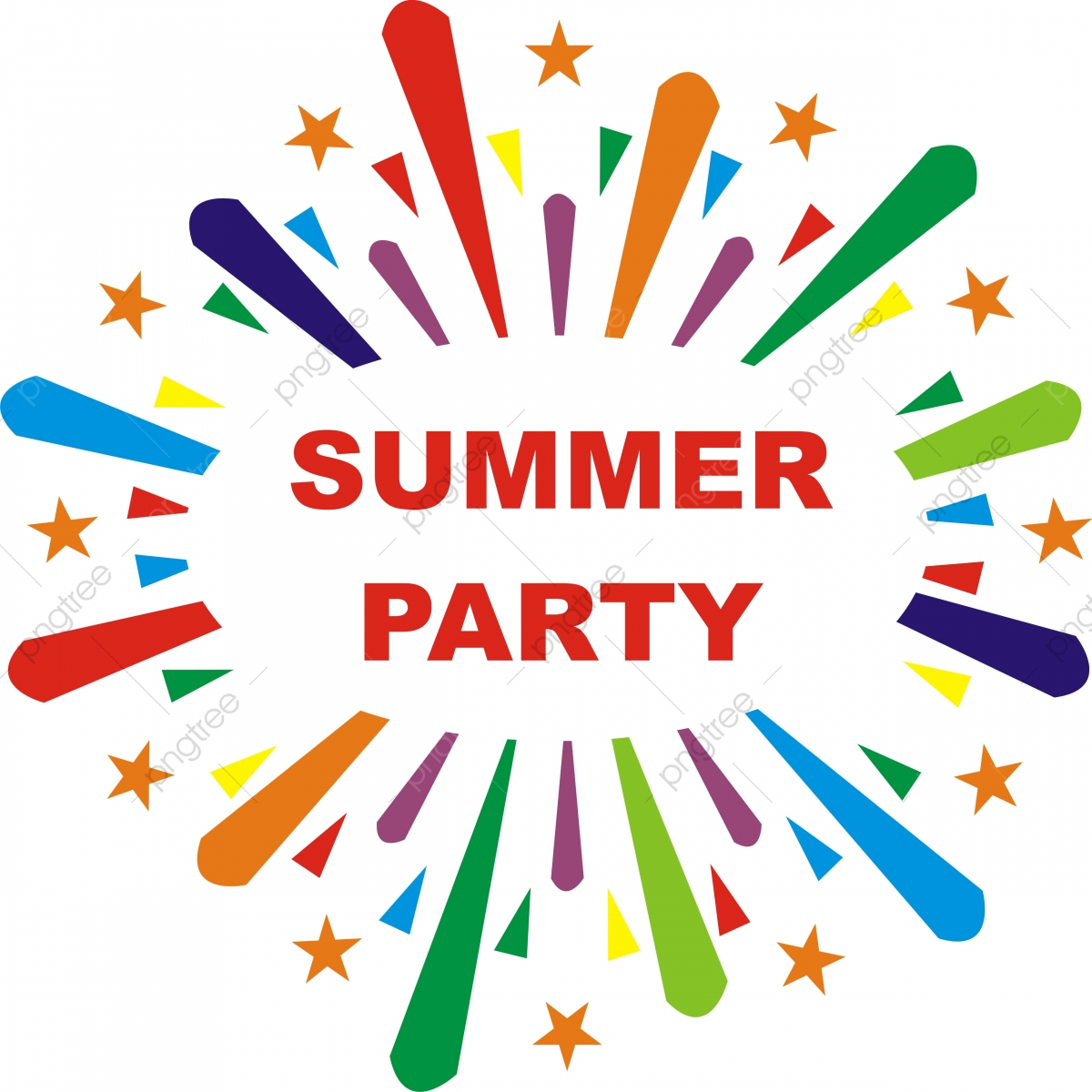 Summer Party Poster Background, Summer, Lettering, Beach PNG.