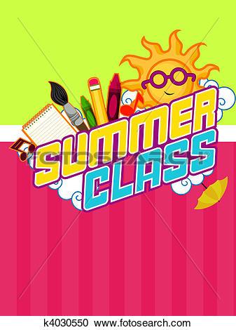 Stock Illustrations of Summer Class Design k4030550.