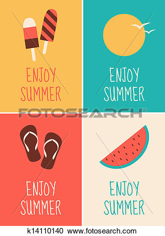 Clipart of Summer Posters Collection k14110140.
