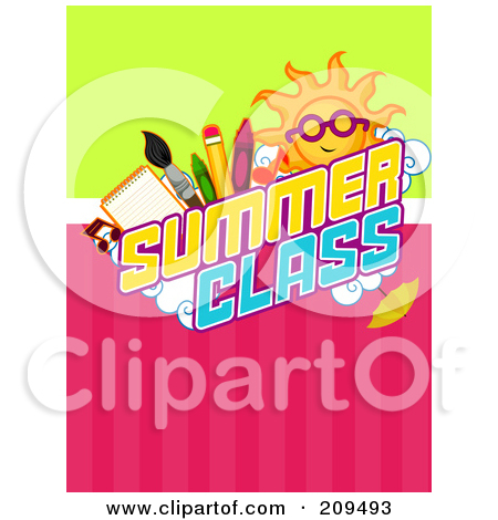 Sun And School Items Over Summer Class Text Posters, Art Prints by.