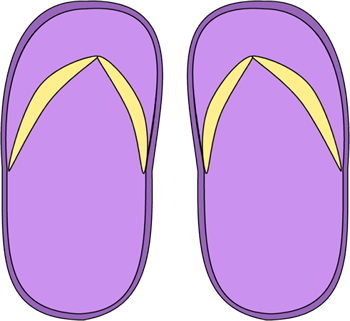 Purple Flip Flops Clip Art.