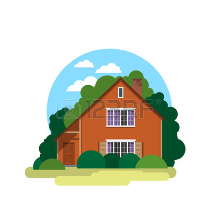 Summer Residence Stock Illustrations, Cliparts And Royalty Free.