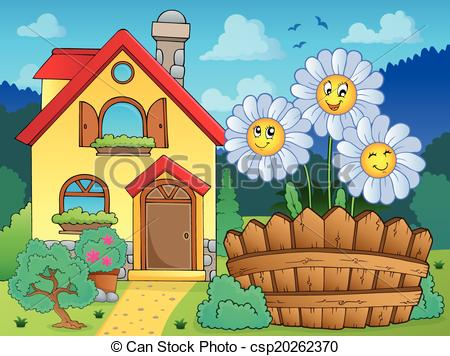 Summer residence Vector Clip Art EPS Images. 488 Summer residence.