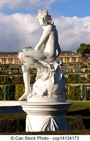 Picture of Statue at Sanssouci Palace in Berlin, Germany.