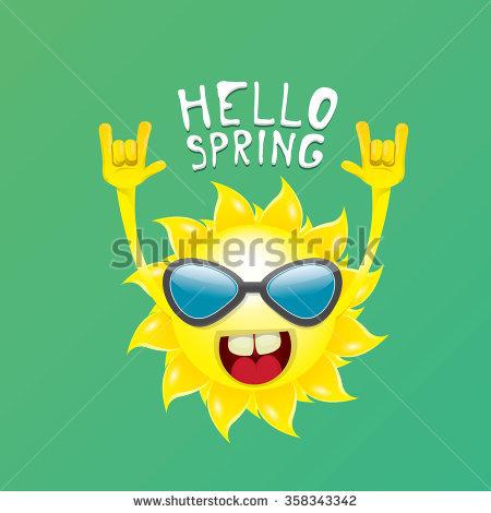 Hello Summer Rock N Roll Poster Stock Vector 414940894.