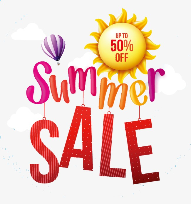 Sale clipart summer.