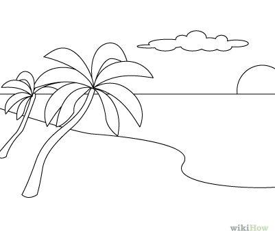 Draw a Beach Scene.
