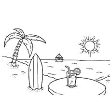 Summer Season Clipart Black And White.