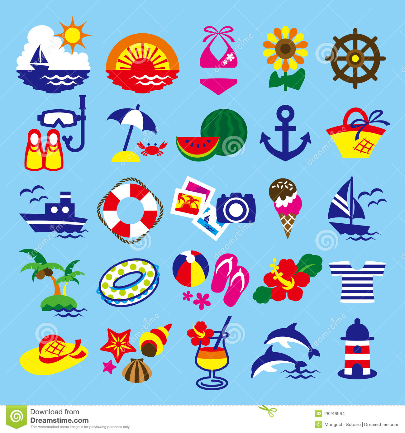 summer season clipart.