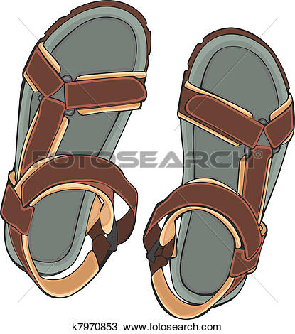 Clipart of summer shoes k7970853.