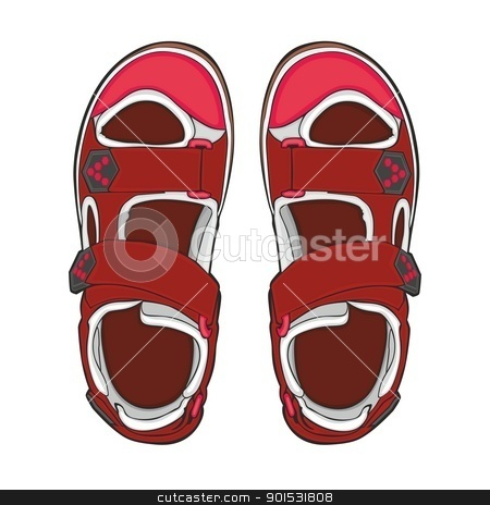 summer shoes stock vector.