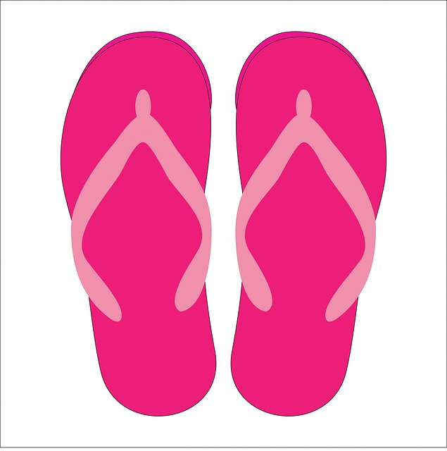 Free photo Beach Shoes Heart Flip Flops Slippers Summer.