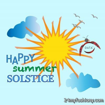 Happy Summer Solstice Graphic Image.