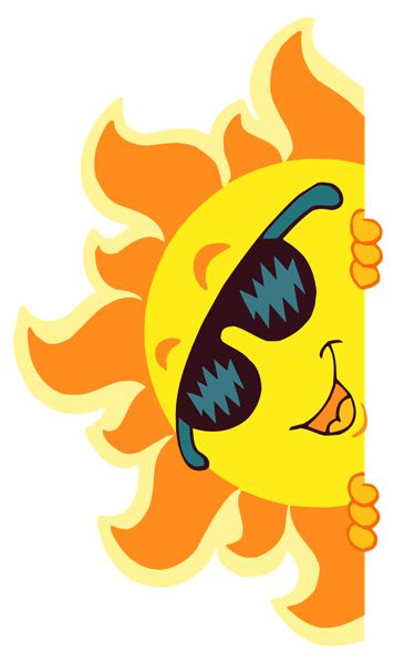 Clipart summer sun.