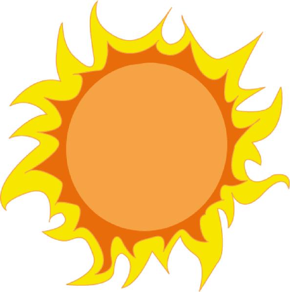 Summer sun clip art.