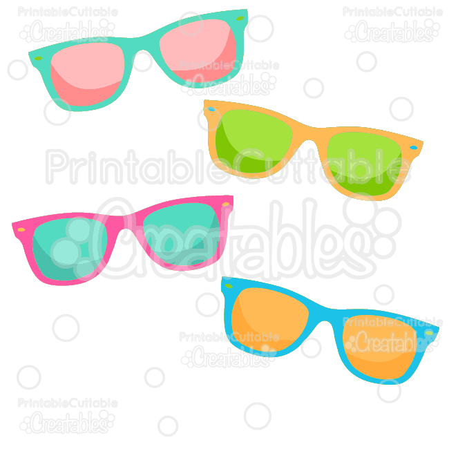 Summer Sunglasses Free SVG Cut File & Clipart.