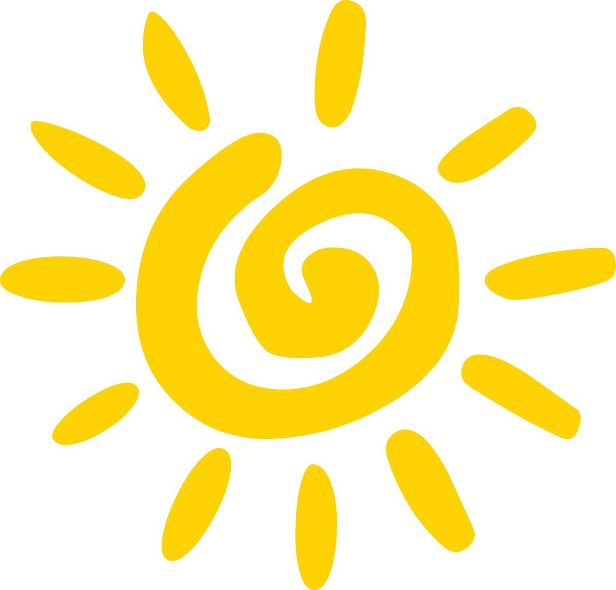 summer sunshine clipart #3