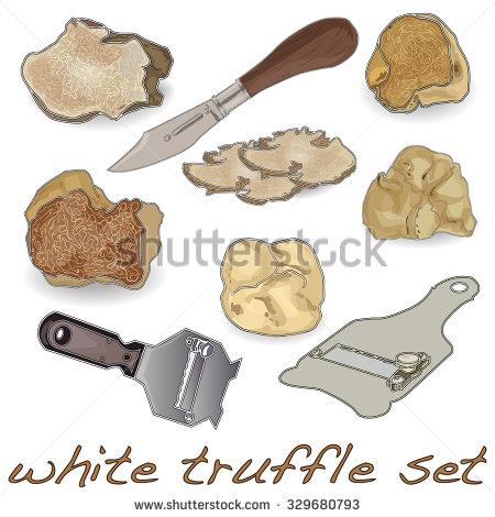 White Truffle Stock Images, Royalty.