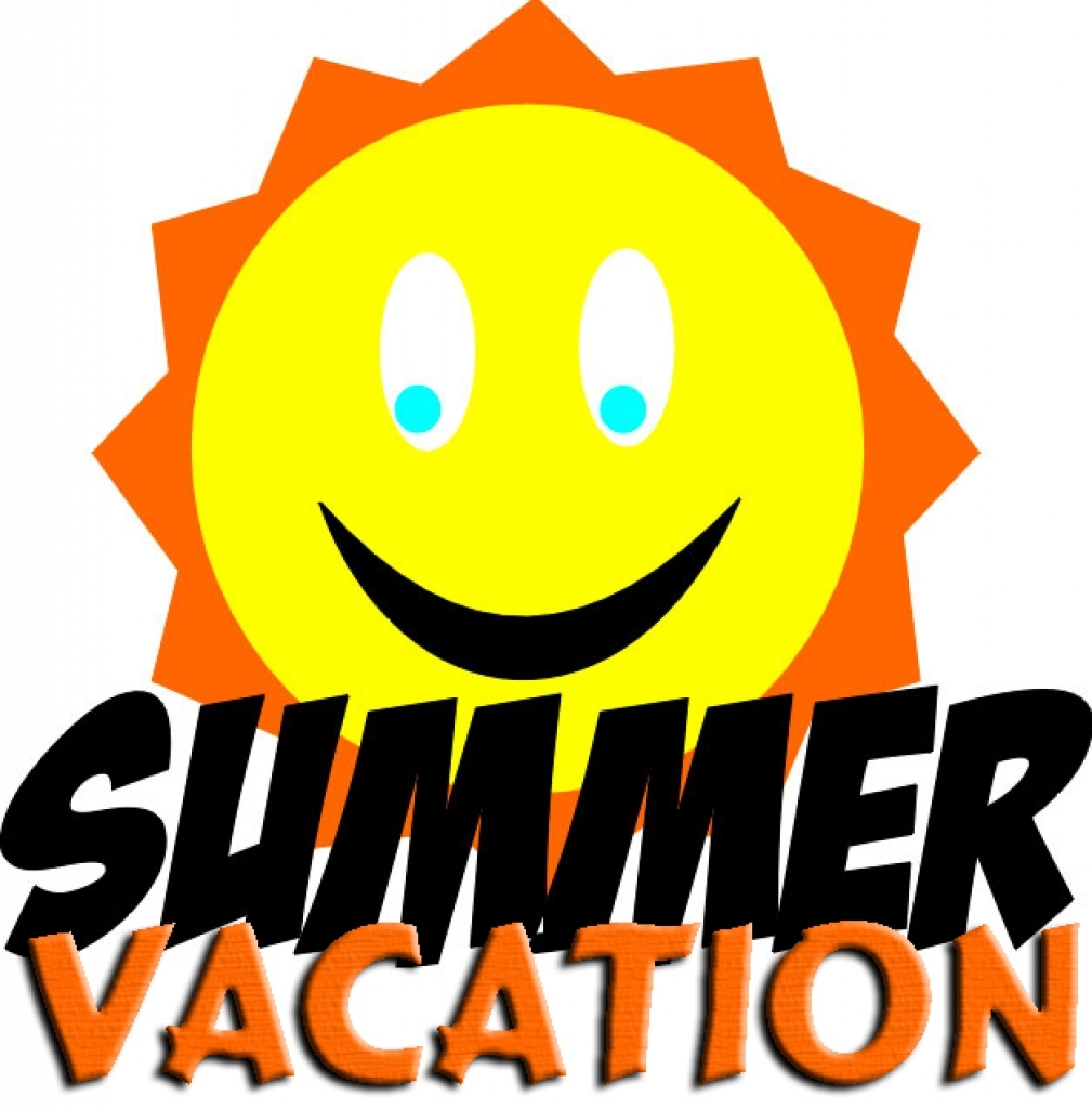 My summer vacation clipart.