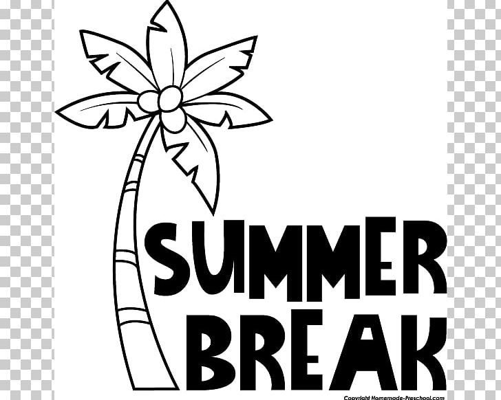 Summer Vacation Black And White PNG, Clipart, Area, Artwork.