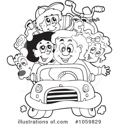 Family Vacation Clipart Black And White.