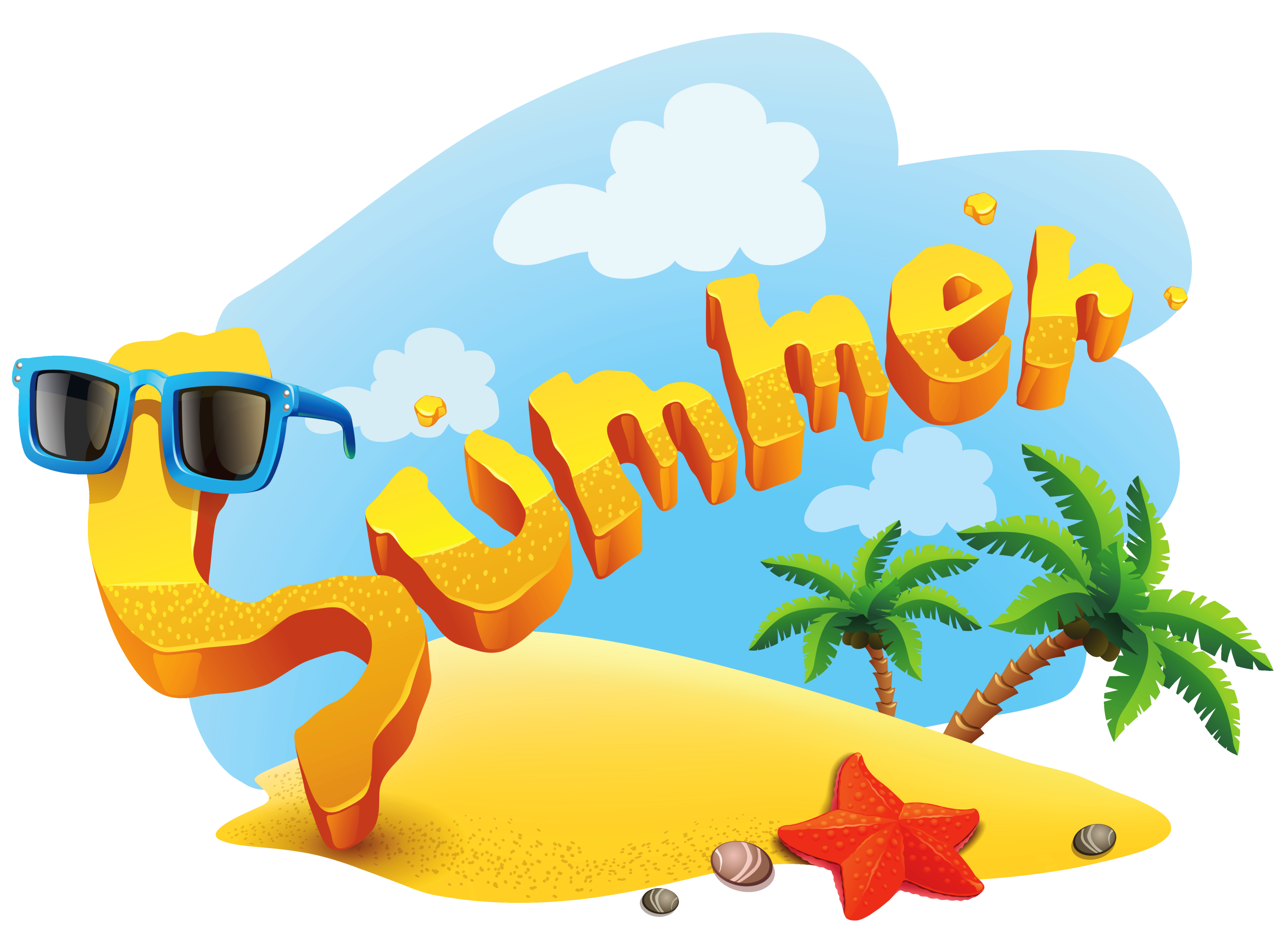 Summer Deco Picture PNG Clipart.