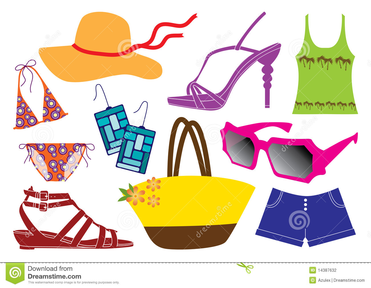 Summer Clothes Clipart.