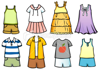 Clothes Worn In Summer Clipart.