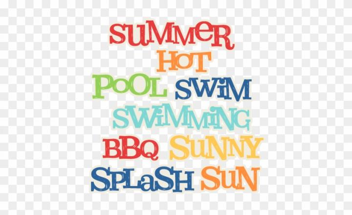 Summer Word Titles Svg Scrapbook Cut File Cute Clipart.