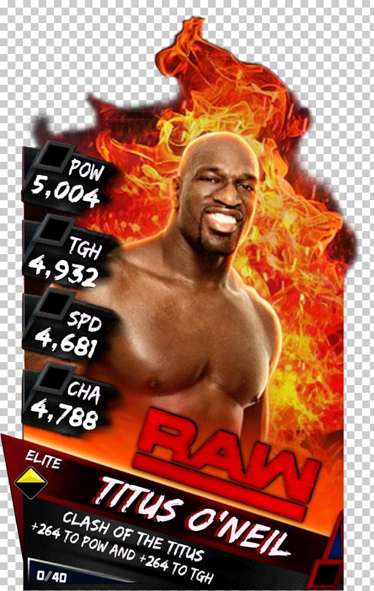 Titus O\'Neil WWE SuperCard SummerSlam WWE Raw, wwe PNG.