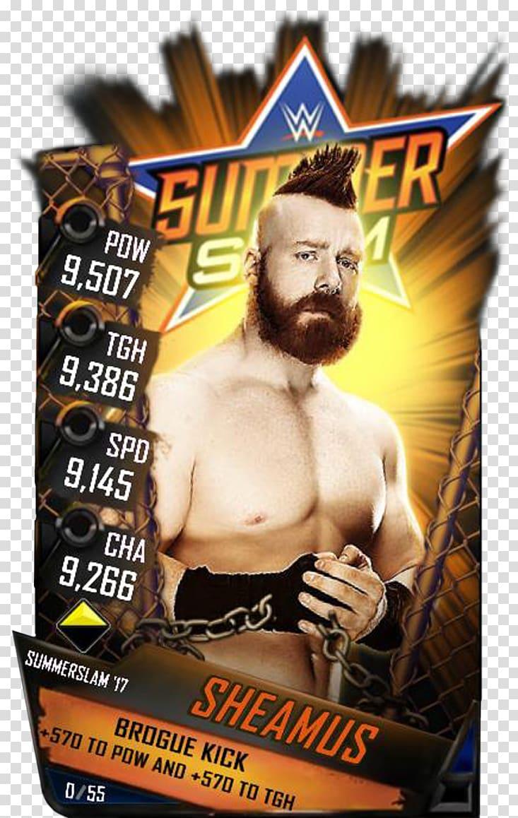 SummerSlam WWE SuperCard WWE 2K18 Rebecca Knox, Sheamus.