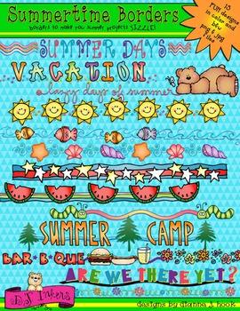Summertime Borders Clip Art Download.