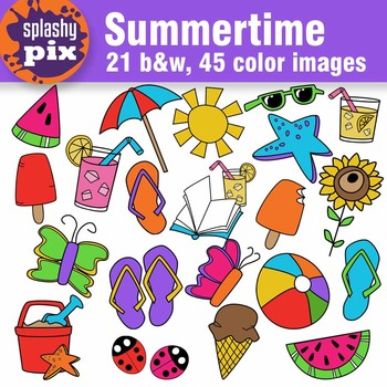 Summertime Clipart.