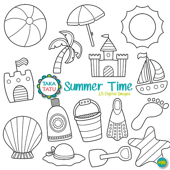 Summer Time Digital Stamp Pack.