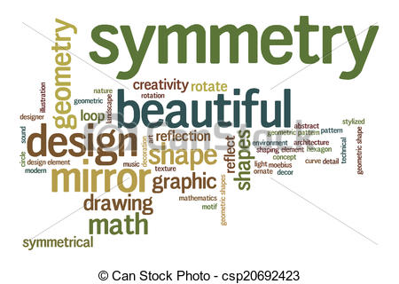 Clip Art of Beautiful symmetry word cloud.