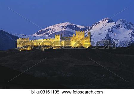 """Stock Image of """"Tourbillon Castle, bishop's castle, castle hill of."""