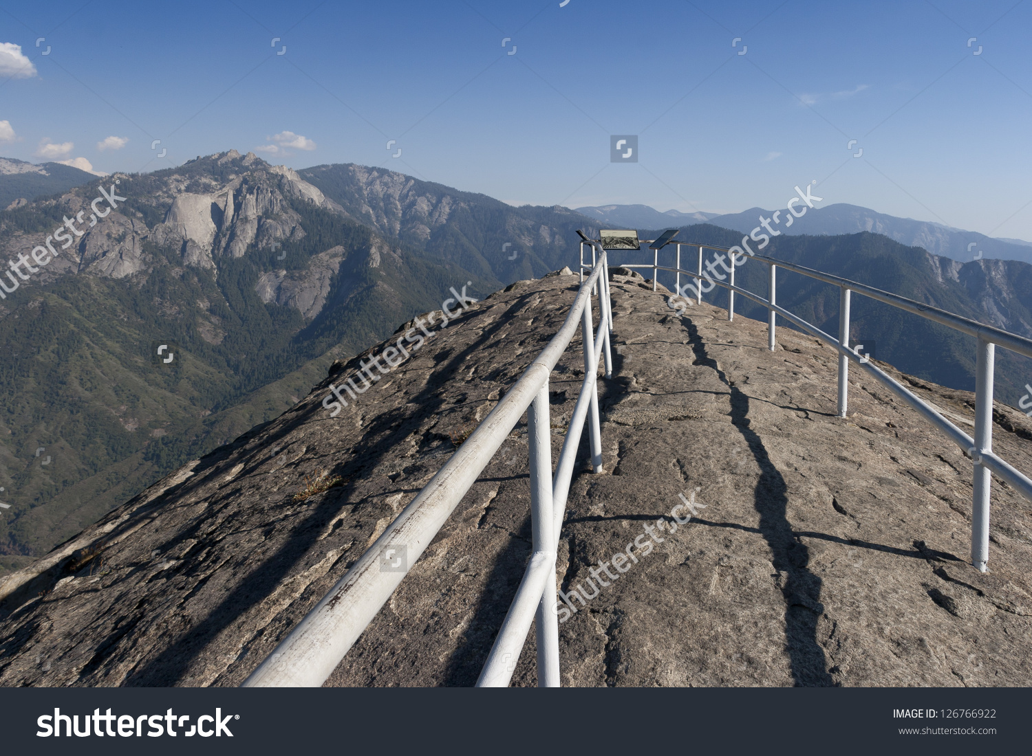 Moro Rock Summit Towards Castle Rocks Stock Photo 126766922.