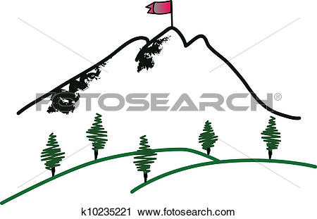 Clipart of Mountain summit k10235221.