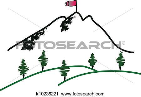 Clipart of Mountain summit k10235221.