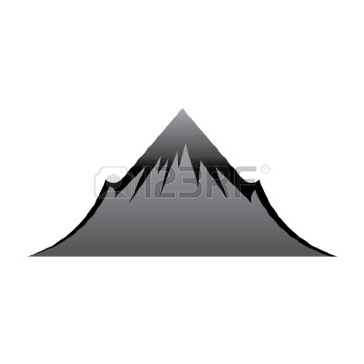 Mountain summit clipart.