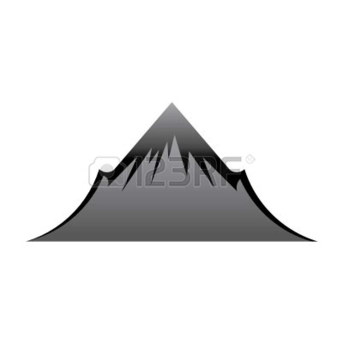 Mountain summit clipart.