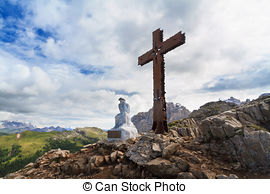 Stock Photo of Summit Cross.