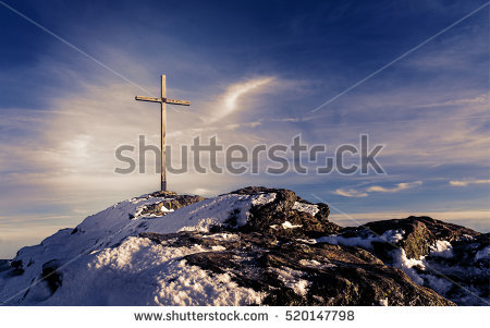 Summit Cross Stock Photos, Royalty.