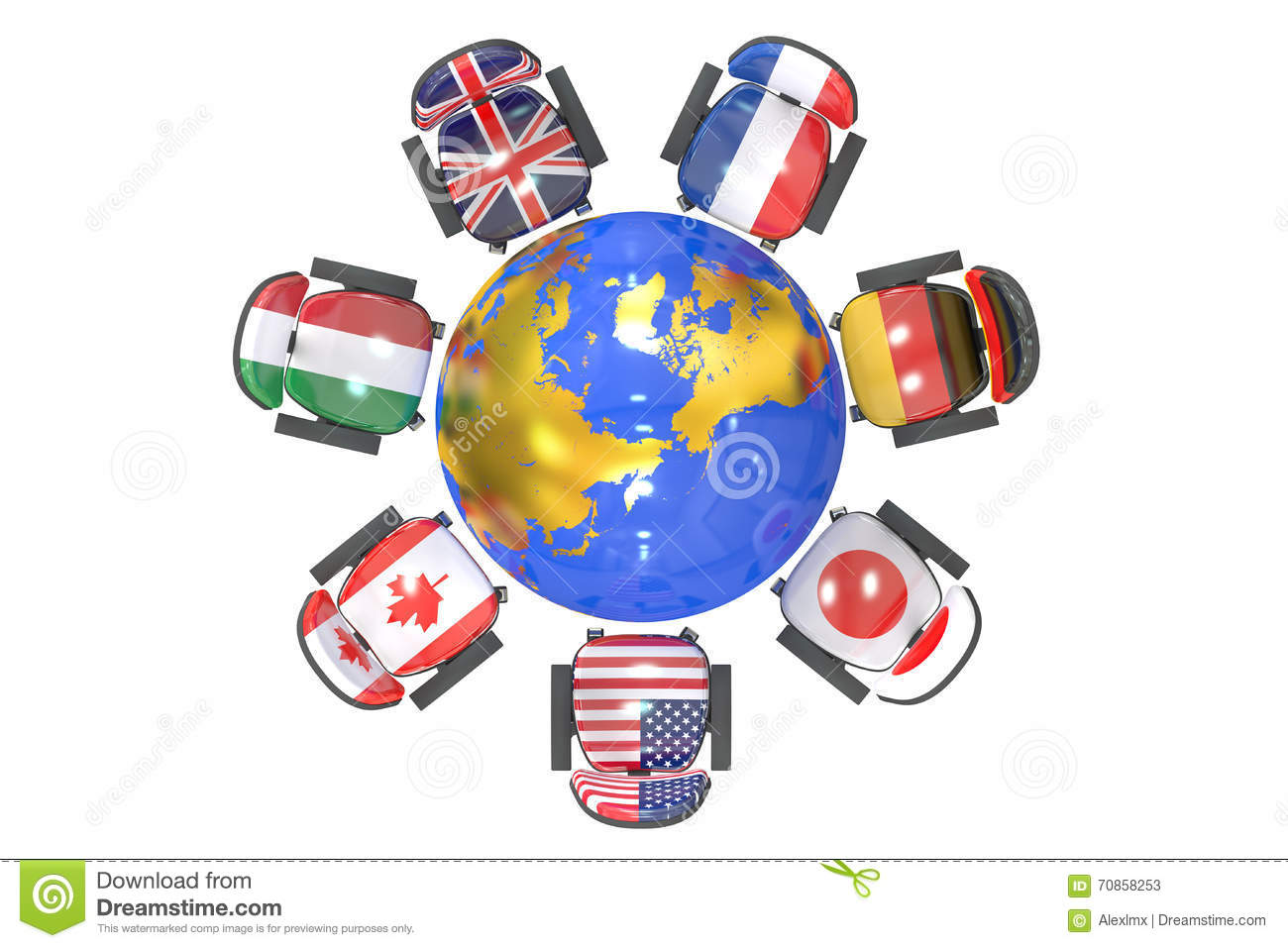 G7 Summit Group Of 7 Concept Stock Illustration.