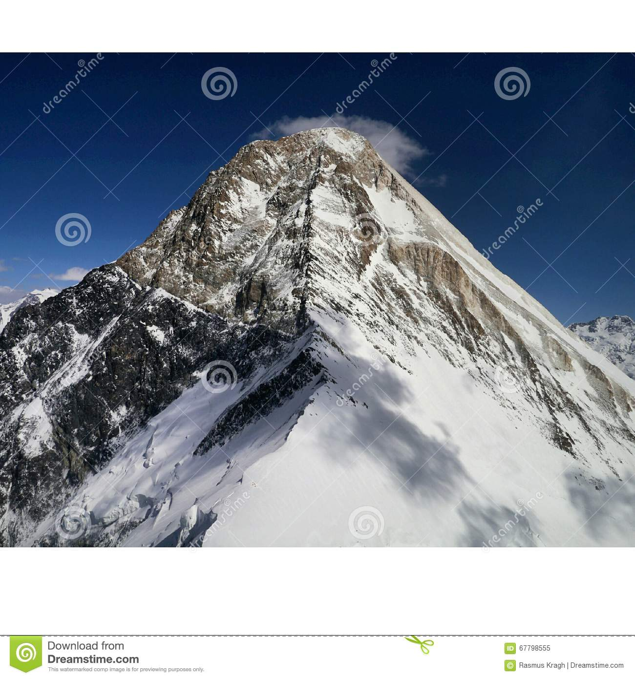 Khan Tengri Summit Stock Photo.