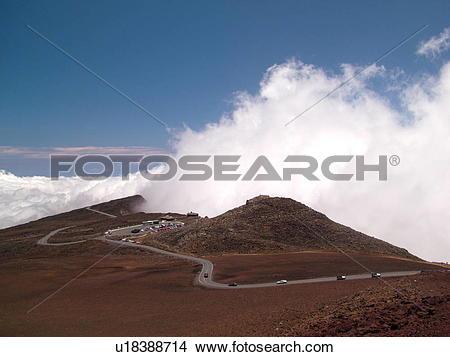 Stock Photo of Maui, HI, Hawaii, Haleakala National Park, Puulaula.